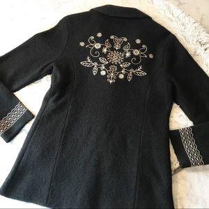 Carole Little bohemian wool coat